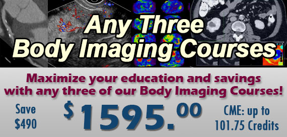 Any 3 Body CT/MR Courses