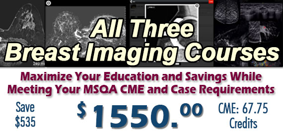Breast Imaging 3 Course Combo